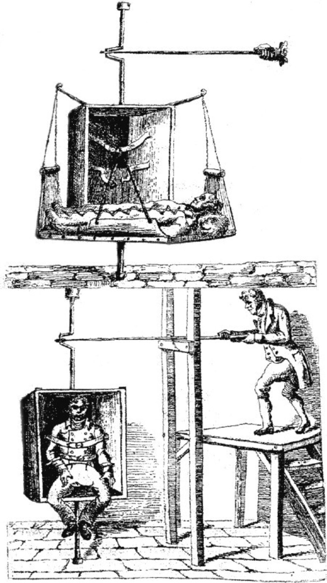 Created Dr. Benjamin Rush the spinning chair treatment in the 19th century was meant to make the patient vomit in order to get rid of toxins.