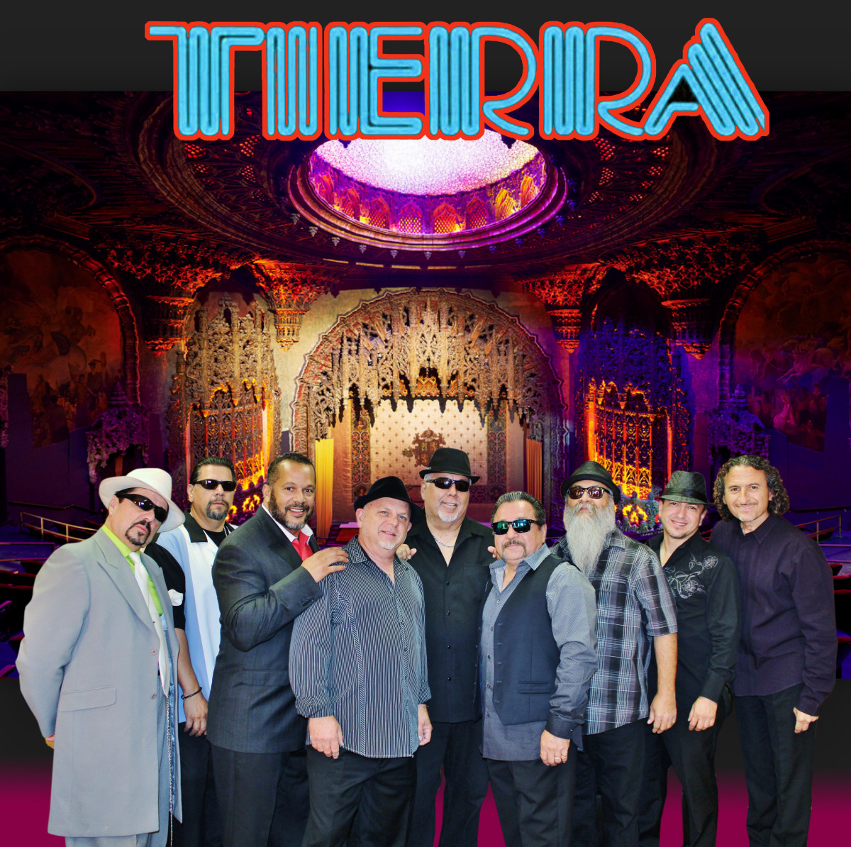 "Tierra Band Members: Will ""Rize""Rivera on lead vocals; Chris Trujillo on drums; Tony Banda on bass, Joey Navarro on keyboards; Dale Villavicencio on Latin percussion, Jeff Lewis on trumpet, Rudy Villa alto sax, and Victor Cisneros tenor."