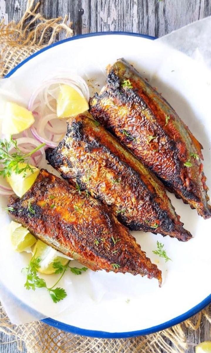Mackerel stuffed with Goan Recheado Masala