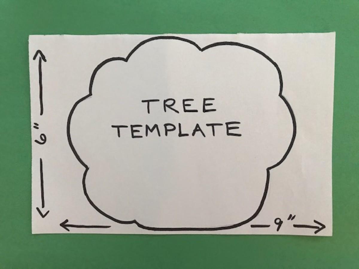 Apple Themed Craft Tree Template