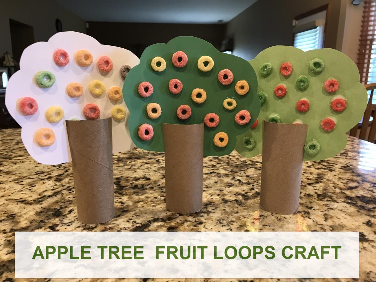 Apple Tree Fruit Loops Craft