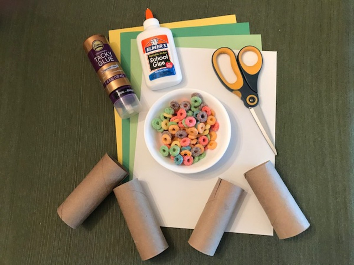 Apple Tree Craft Supples | Apple Themed Craft | Toilet Paper Roll Craft