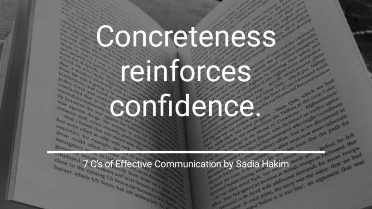 Concreteness: 7 C's of Effective Communication