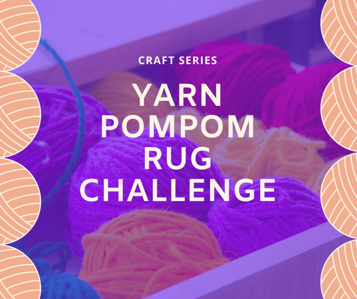 Yarn Pompom Rug Challenge