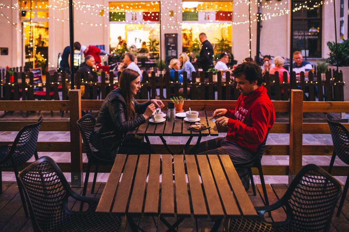 Go on your first date in a public setting.