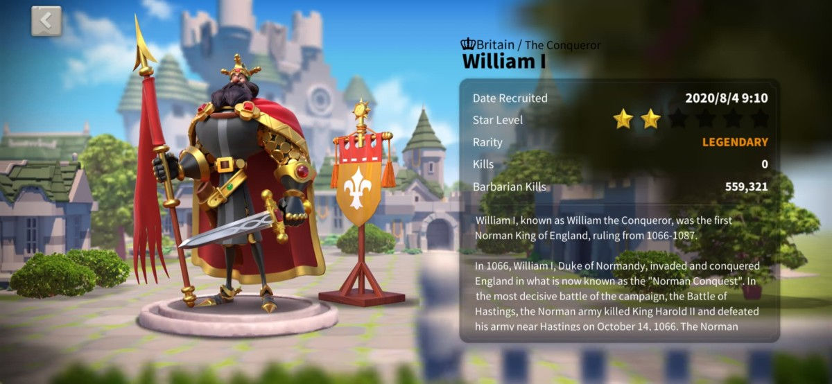 Ultimate William I Talent Tree Build Guide in