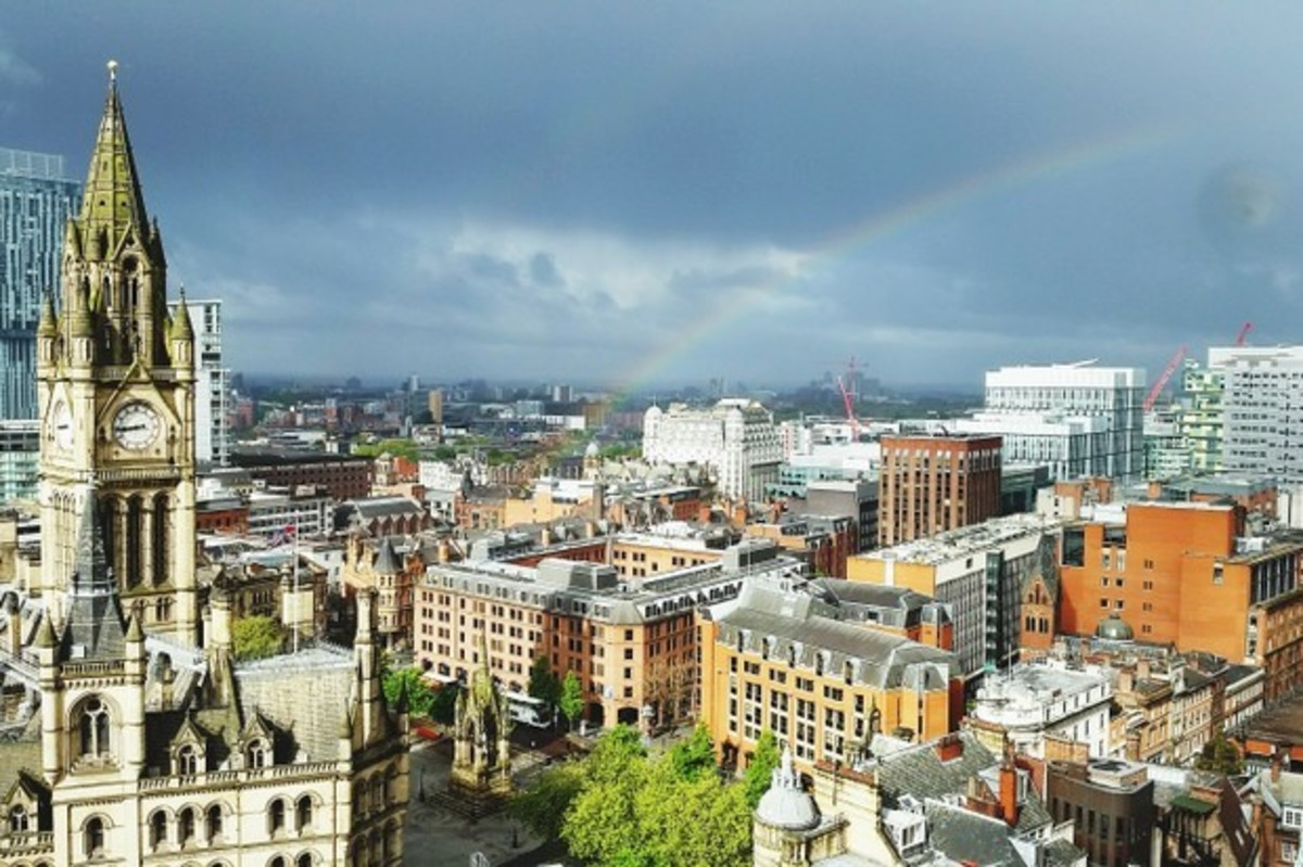 Skyline photo of Manchester.
