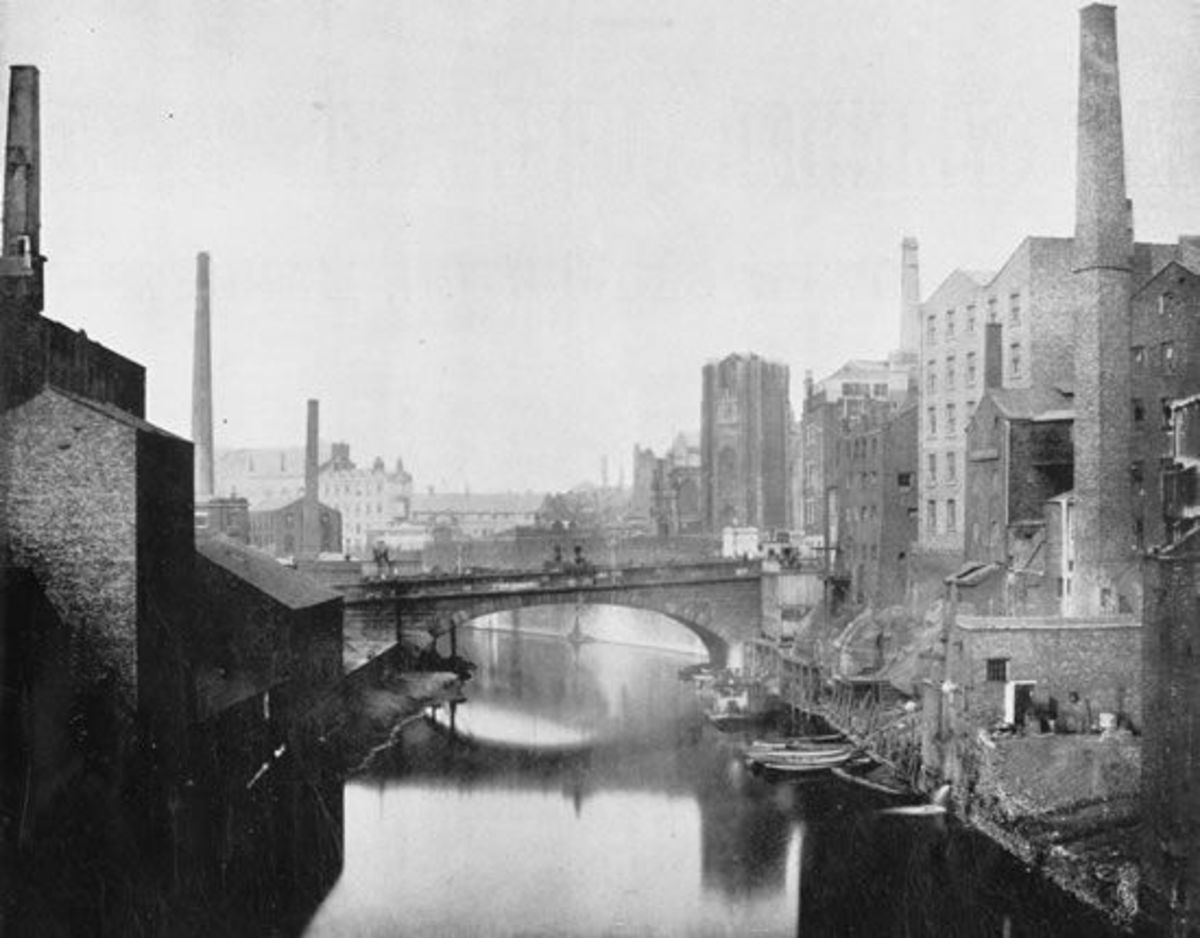 Manchester during the Industrial Revolution.