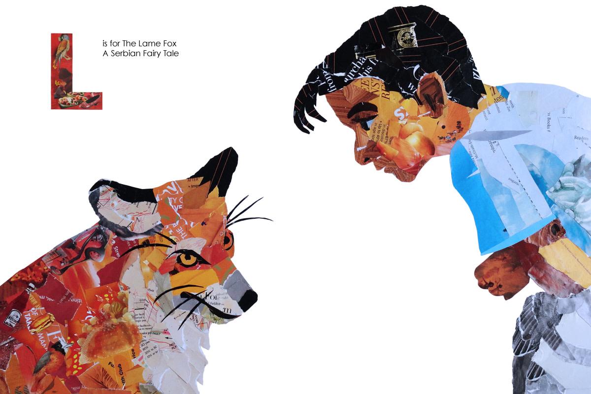 The Lame Fox collage illustratiion
