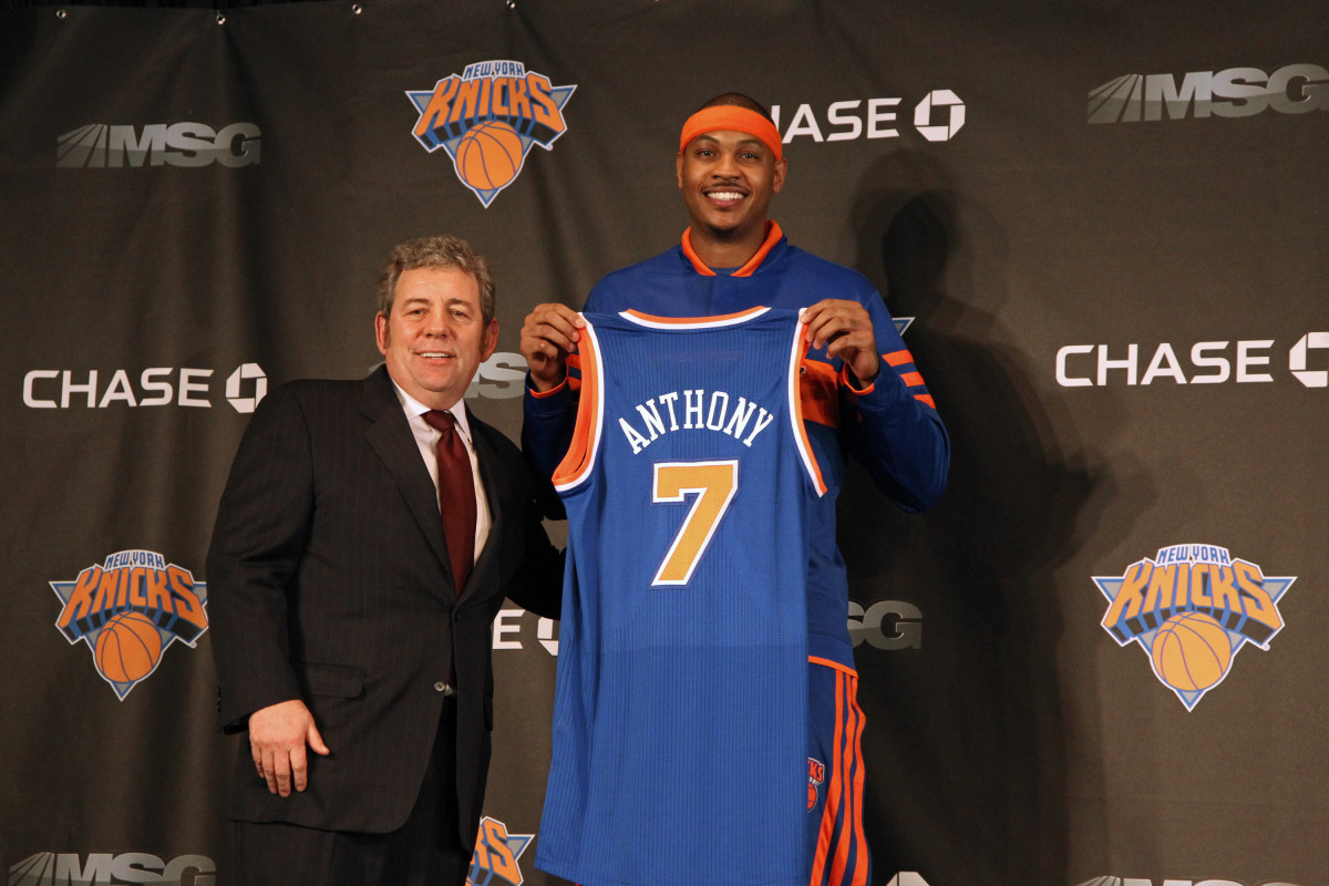 The Nuggets sent Carmelo Anthony to the Knicks to start their rebuild.