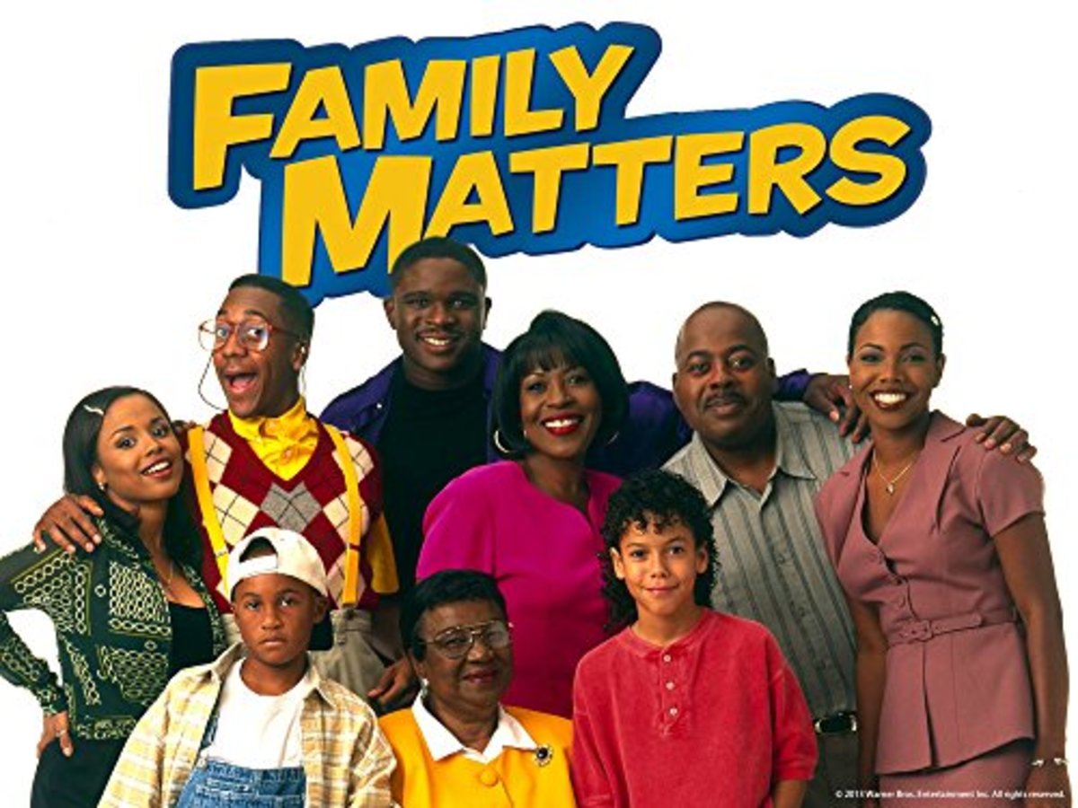 Family Matters Cast. Orlando Brown, bottom left.