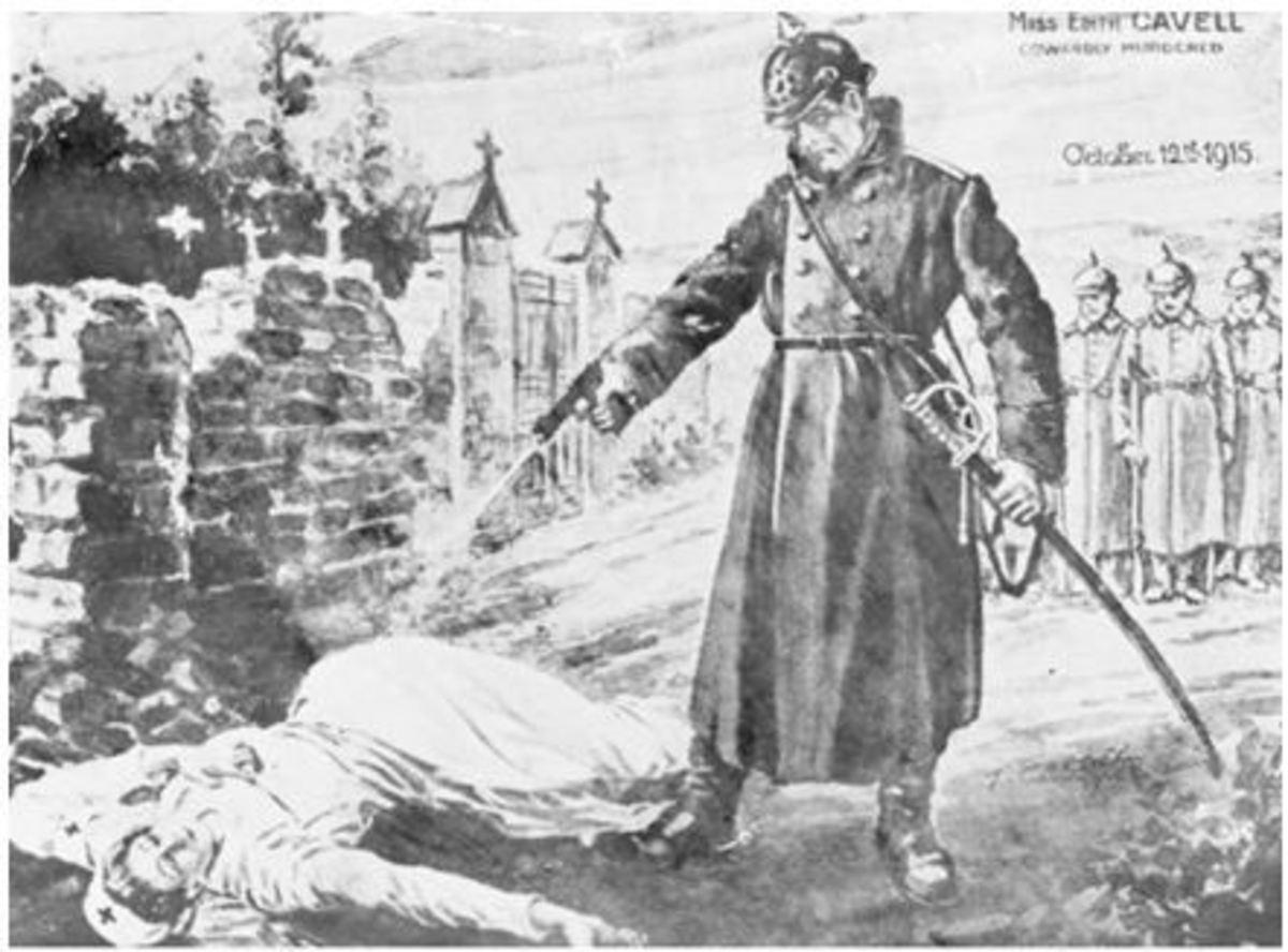Execution of British nurse, Edith Cavil
