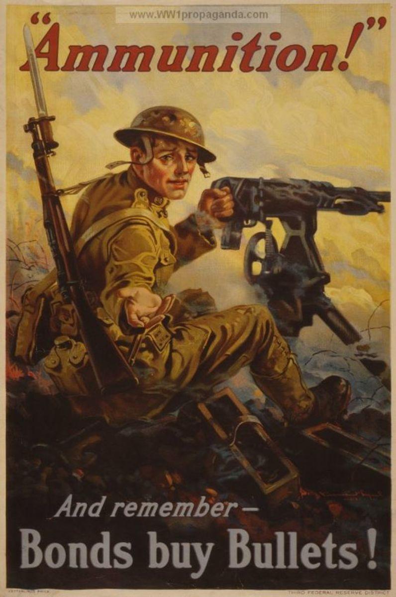 Propaganda used to sell War Bonds