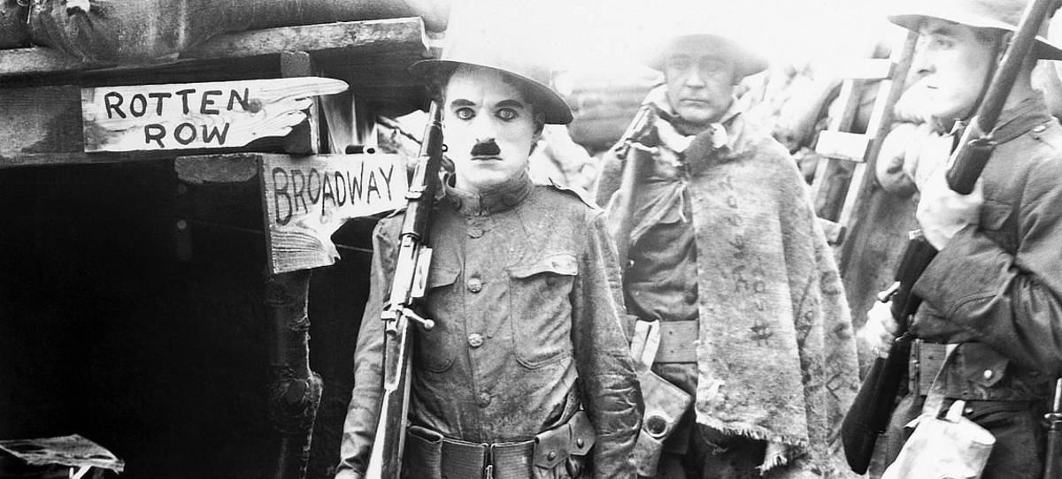 Charlie Chaplin in WWI propaganda film.