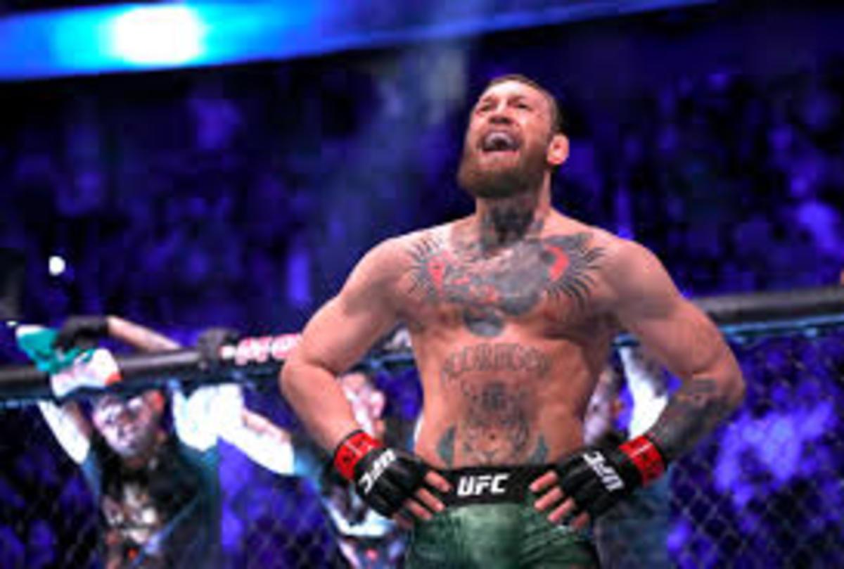McGregor at his bout against Donald Cerrone at UFC 246.