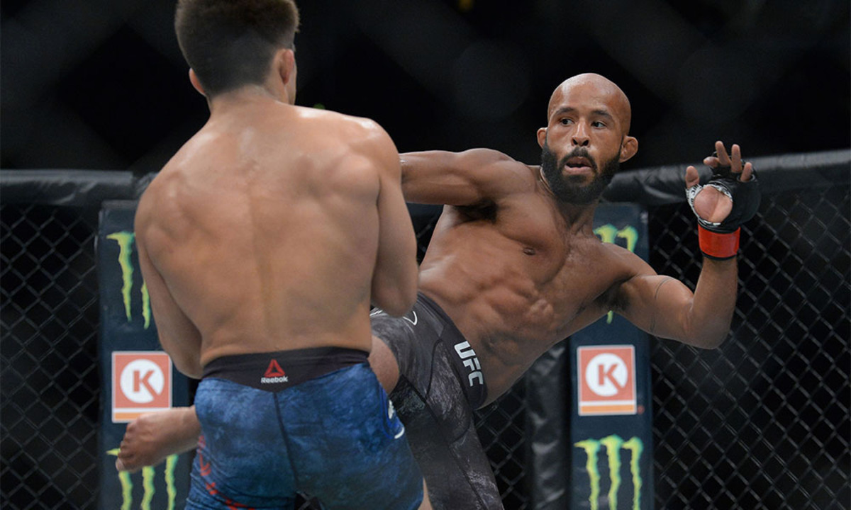 DJ during his controversial loss to Henry Cejudo at UFC 227