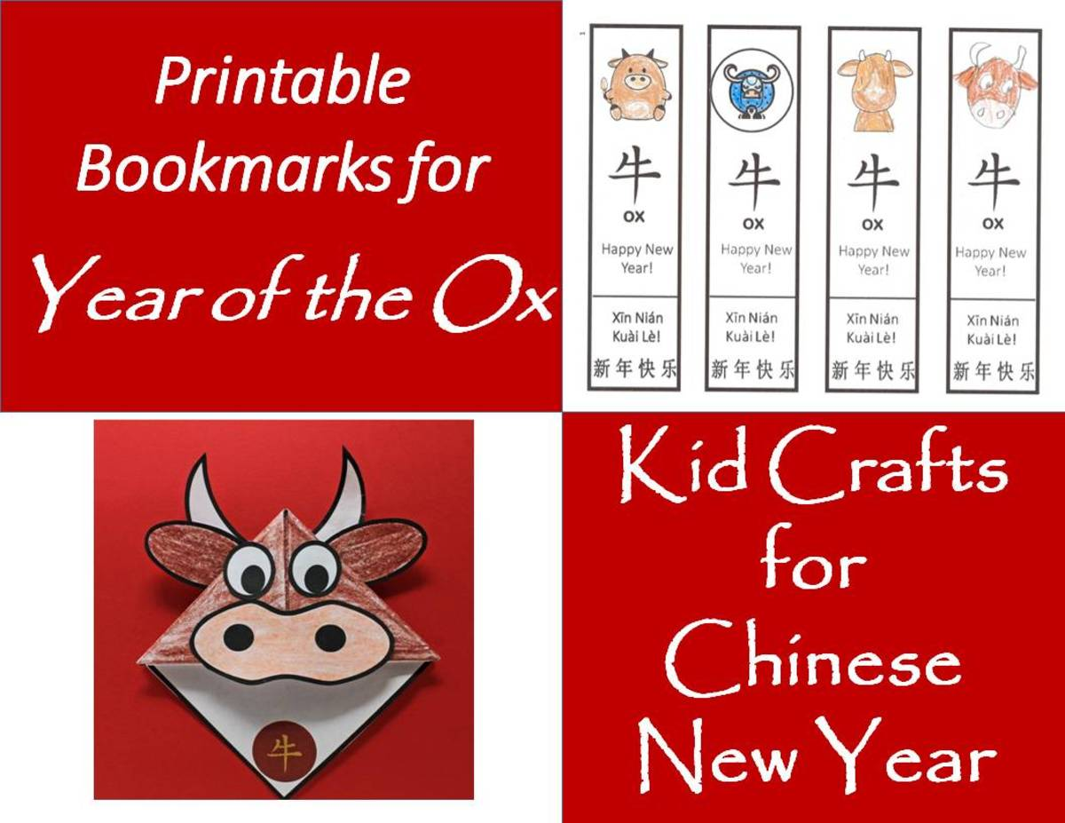Printable Bookmarks for Year of the Ox: Kids' Crafts for Chinese New Year