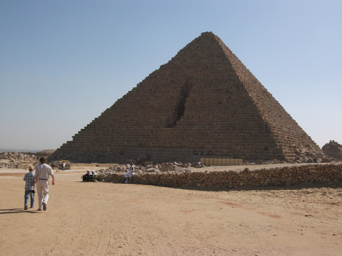 The largest of the Three Great Pyramids of Giza