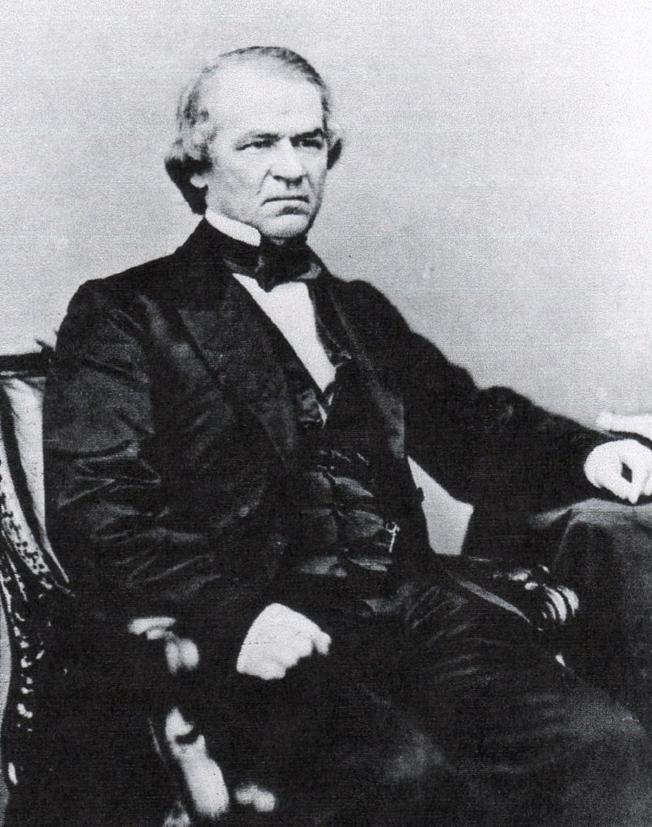 Andrew Johnson faced two main drains on his budget, Reconstruction of the South, and the purchase of Alaska.