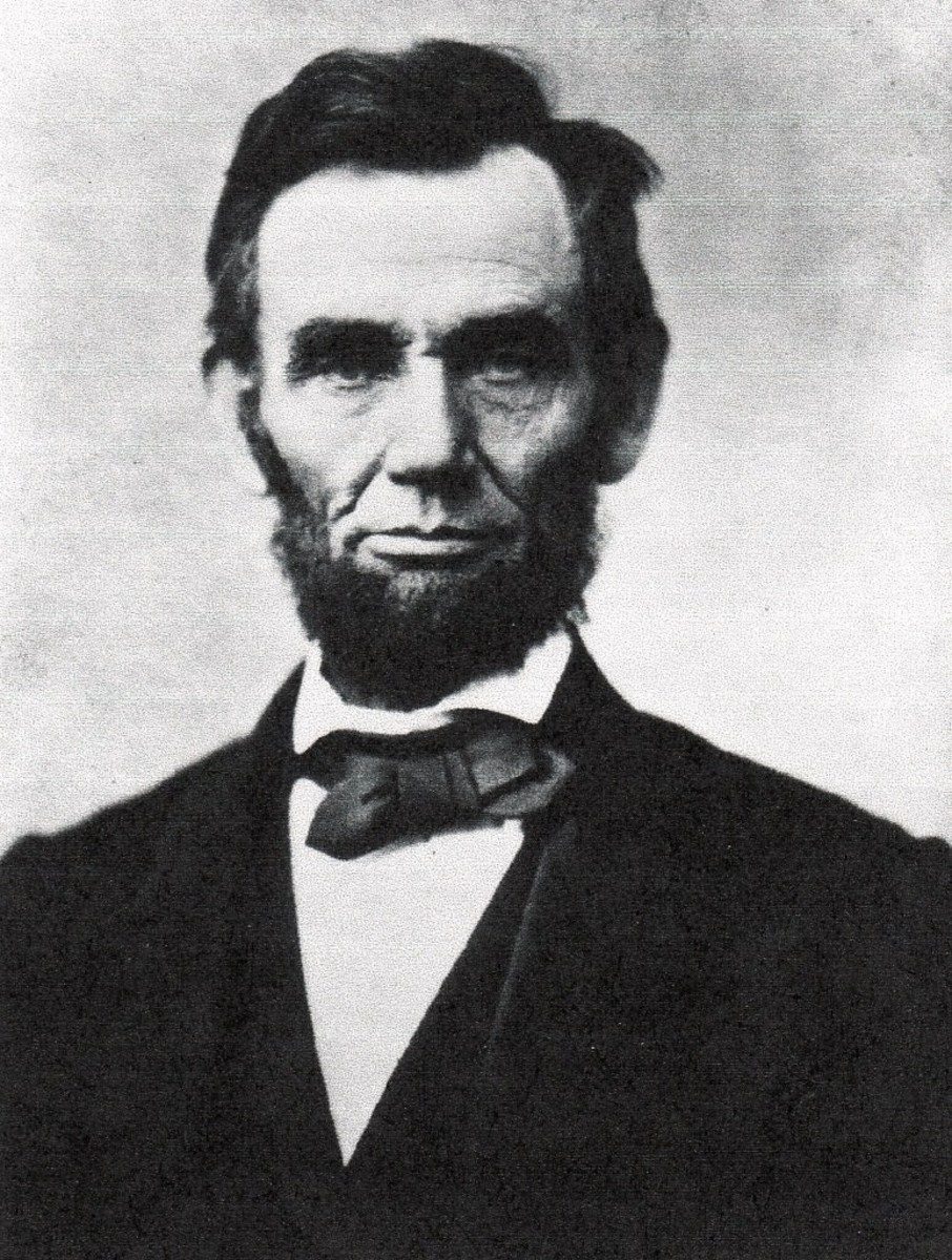 Abraham Lincoln, Sixteenth President, 1861-1865, party Republican, from Illinois