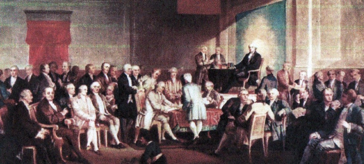 Signing of the constitution -- courtesy of History Pictures. com