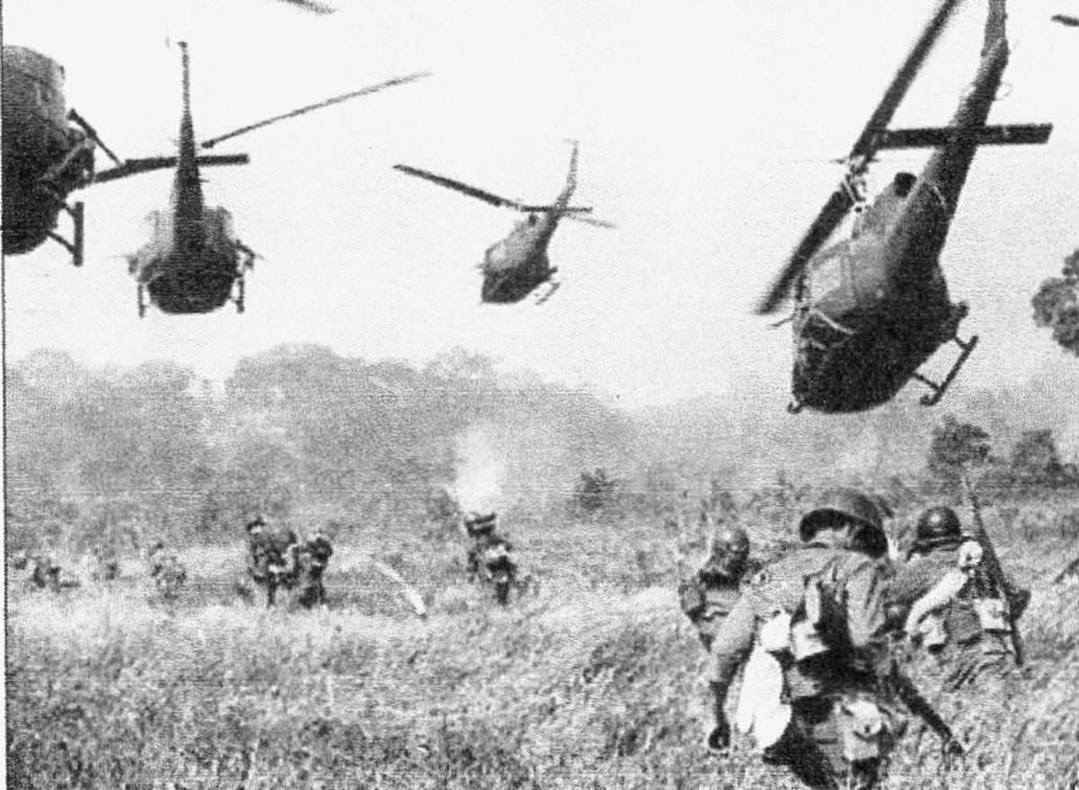 Vietnam, air support for ground troop.