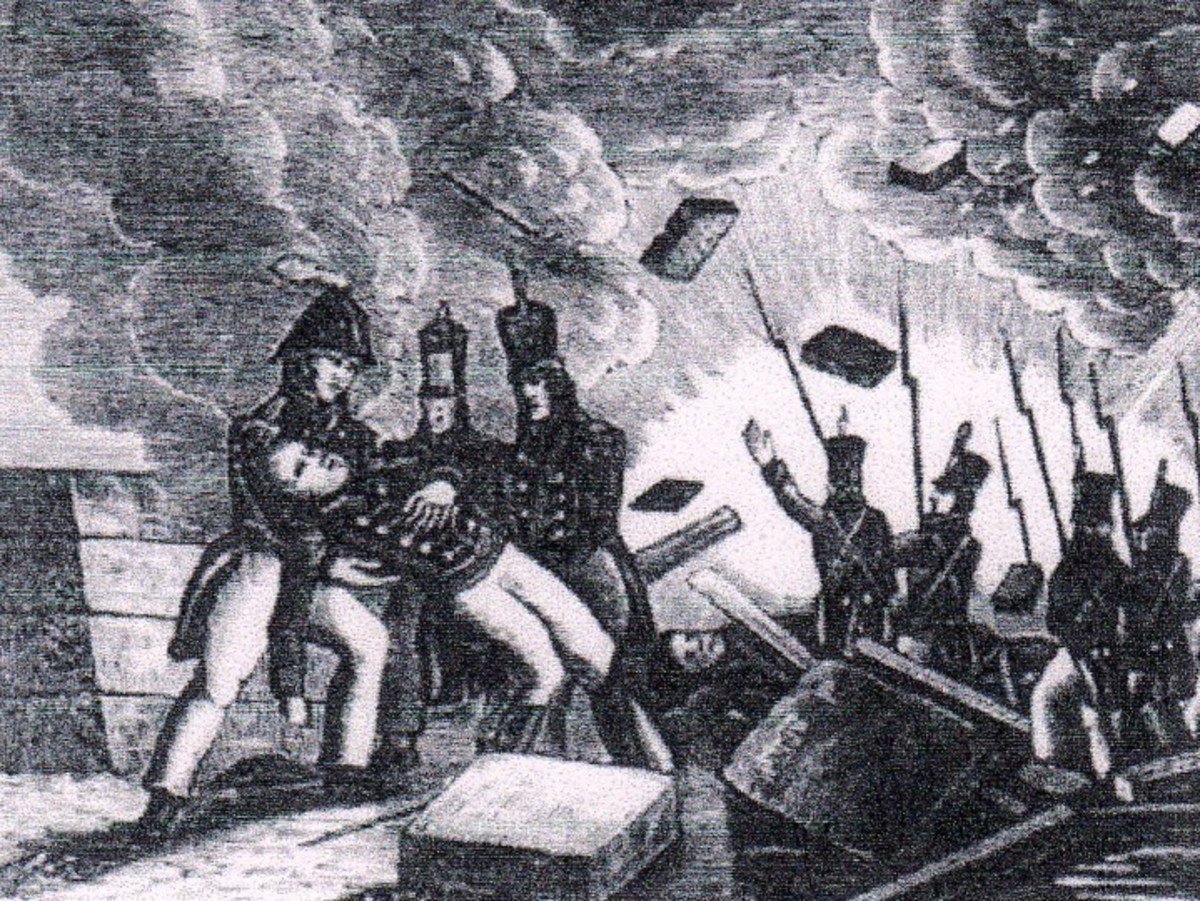 Battle of York, in Upper Canada, April 27, 1813 (courtesy History Pictures.com)