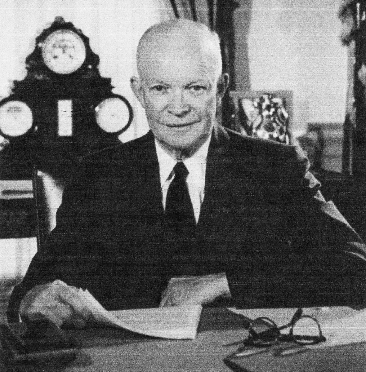 Dwight D. Eisenhower, the thirty-fourth president, 1953-1961