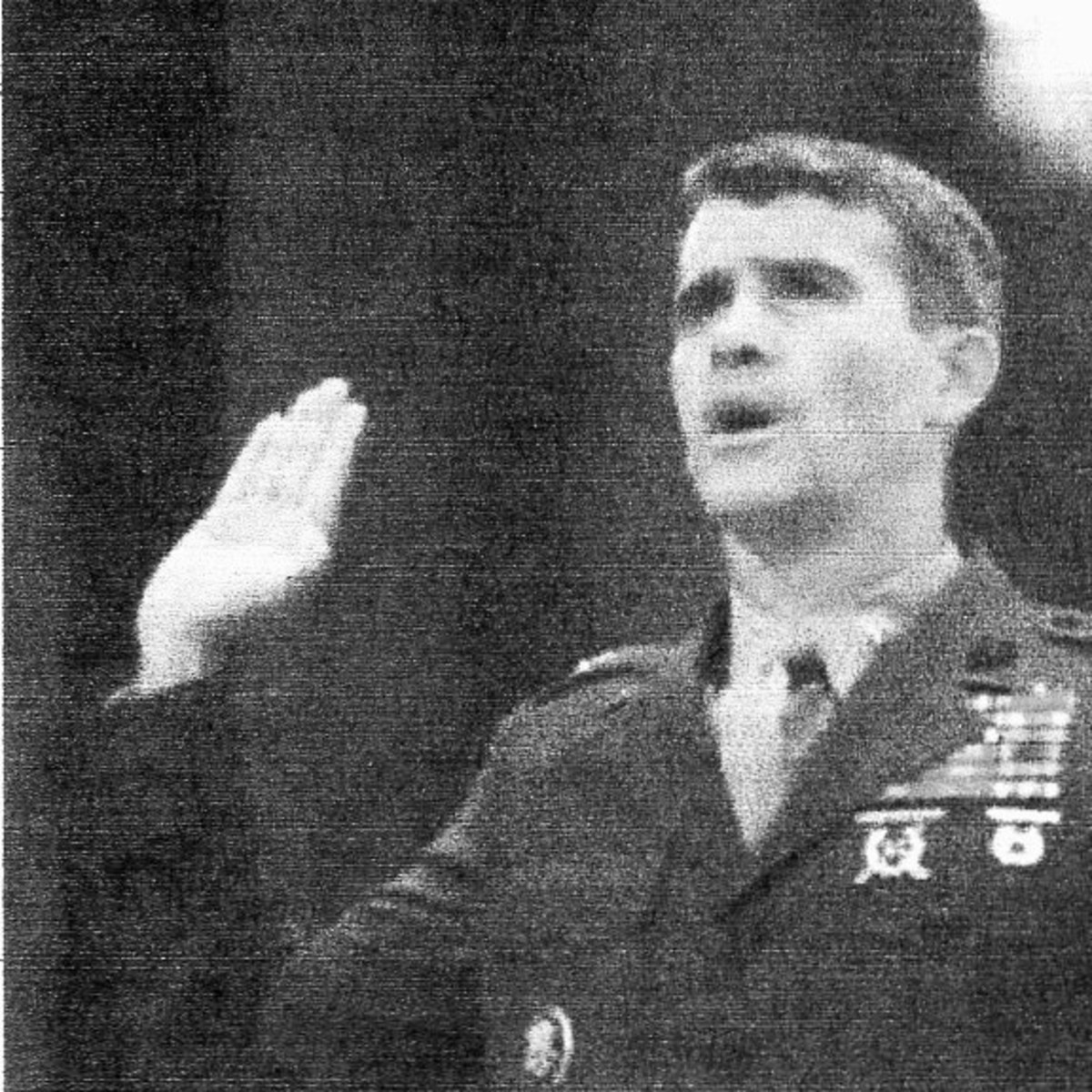 Colonel Oliver North: scapegoat of the Contra/Iran affair - proceeds from arm sales to Iran diverted to Contras. North later convicted. Reagan cleared of any involvement.