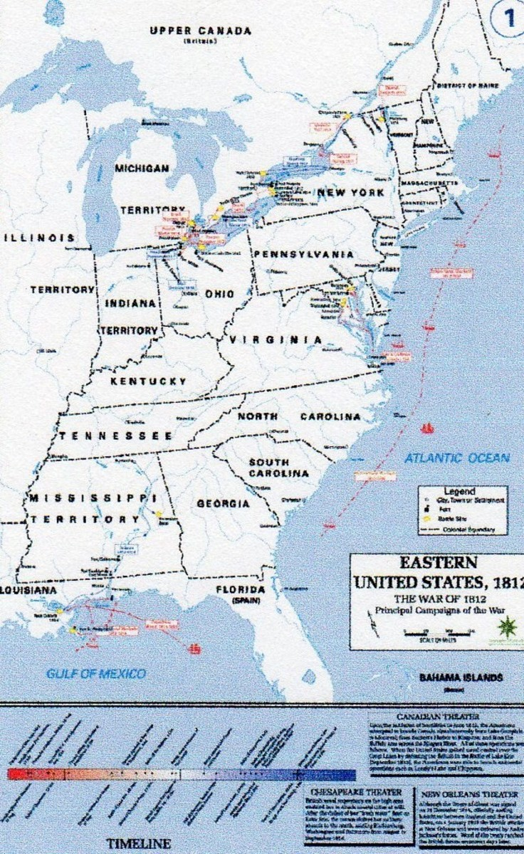 Map of the era, with major campaigns marked. courtesy Footnotes.com