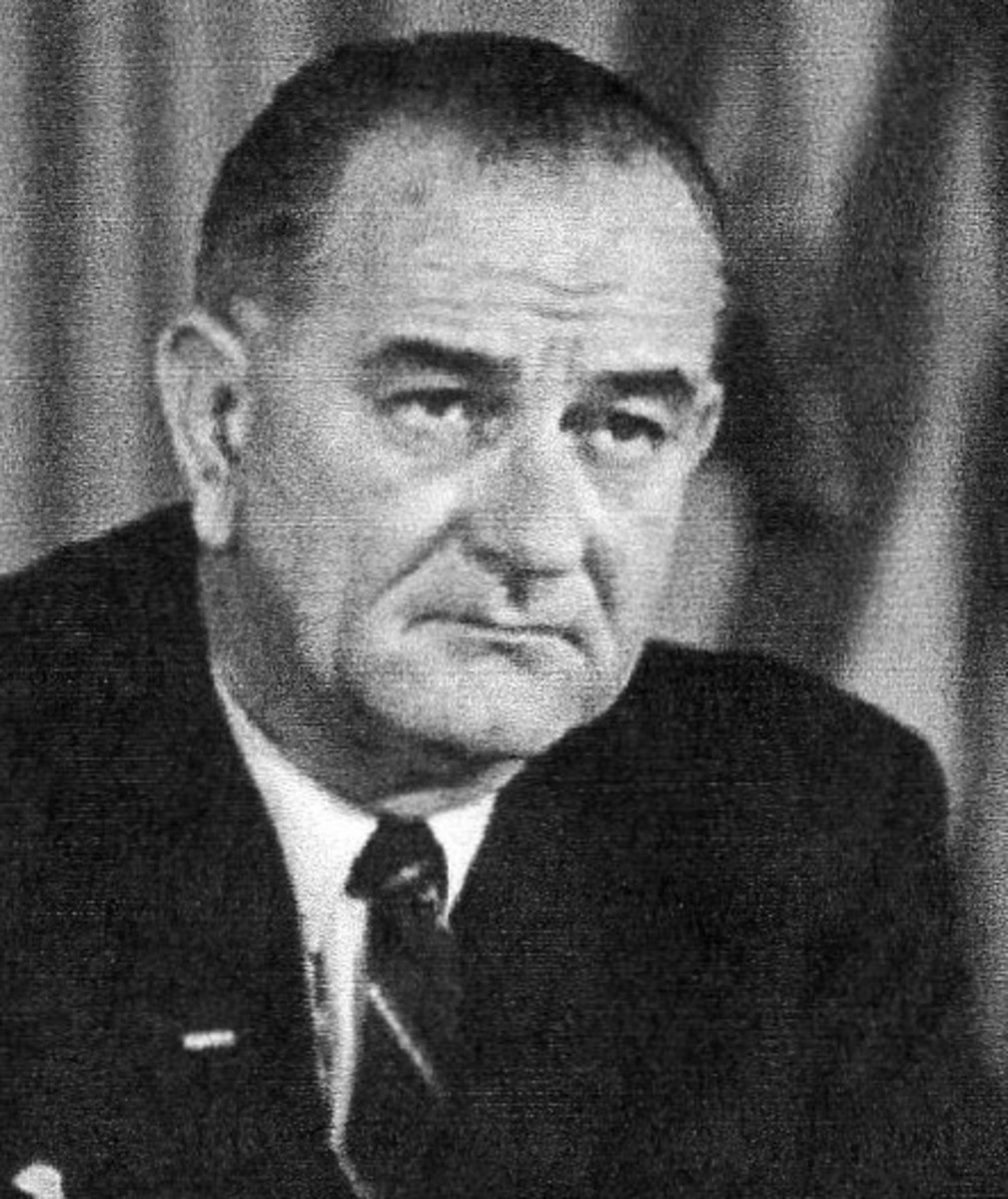 Lyndon B. Johnson, the thirty-sixth president, a Democrat from Texas, 1963-1969.