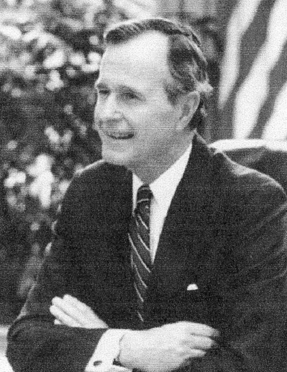 George H. Bush, the forty-first president, Republican, 1989--1993 added another $1.5 trillion to the debt over four years.