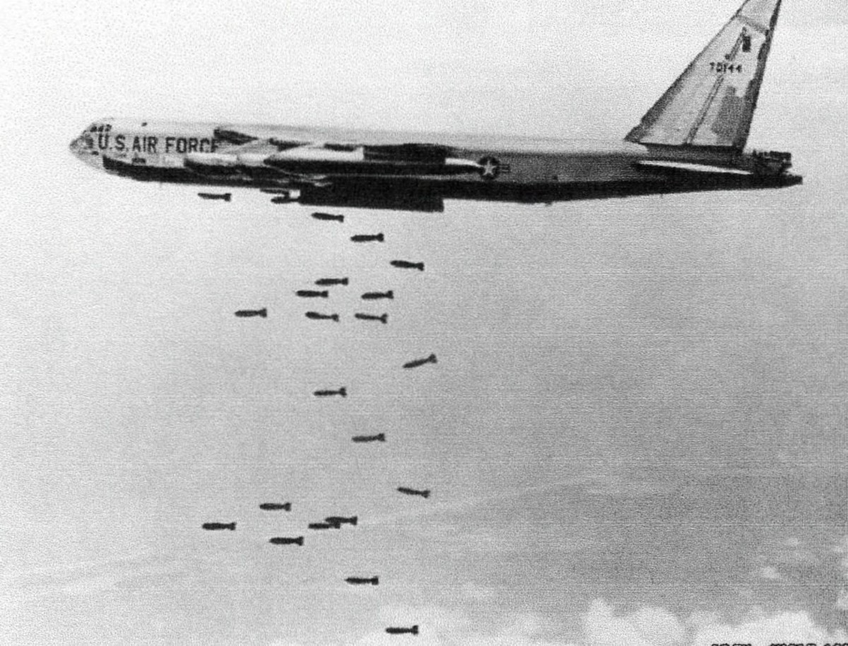 In 3 months 145,000 tons of bomb fell on Cambodia a nation of 10 million, killing 4 million, at a cost of $150.5 million (hist.) Laos $99.2