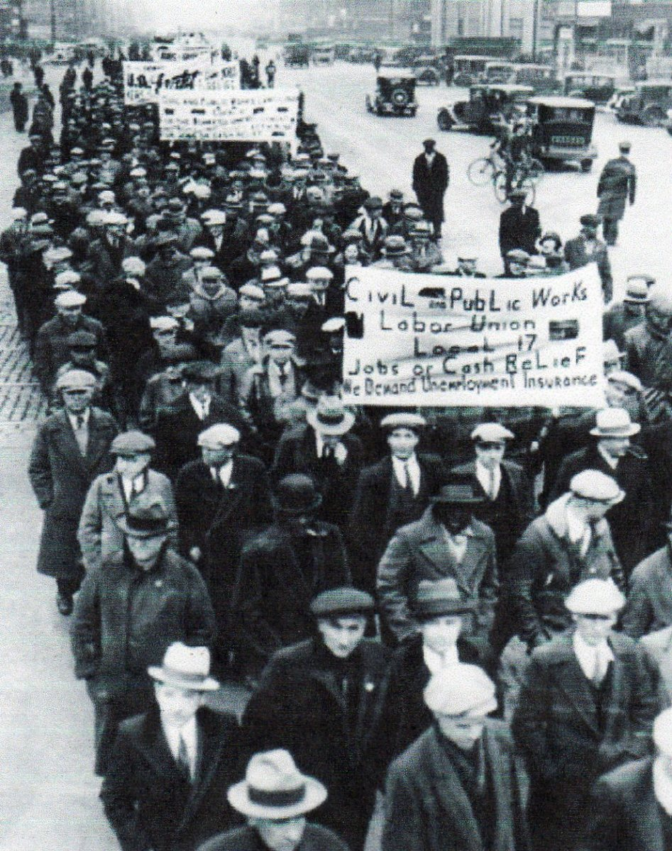 March of unemployed in Chicago, 1933
