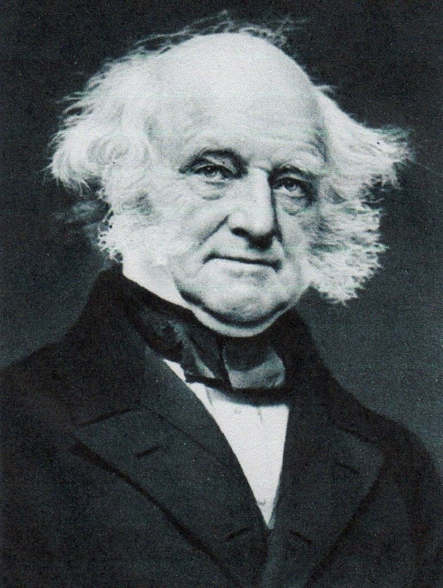 Martin Van Buren, Eighth President, party: Democrat from New York.