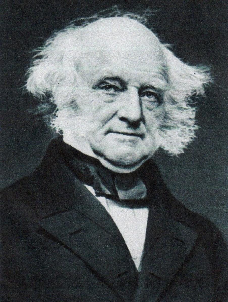 Martin Van Buren, Eighth President, party: Democrat from New York.