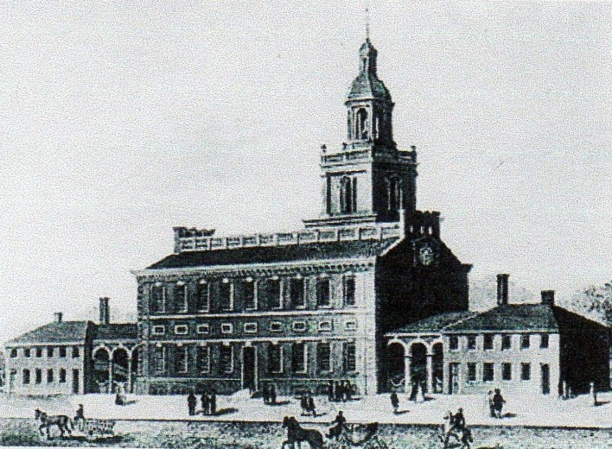 Independence Hall, in Philadelphia. The capitol was moved from here to Washington in 1800.