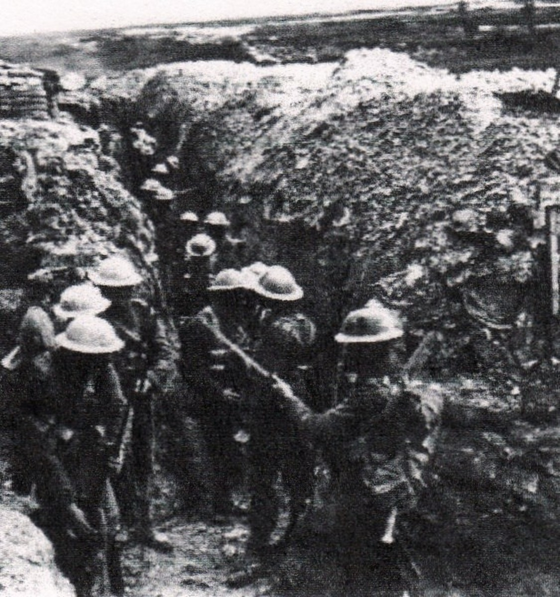 World War One -- Americans in the trenches.