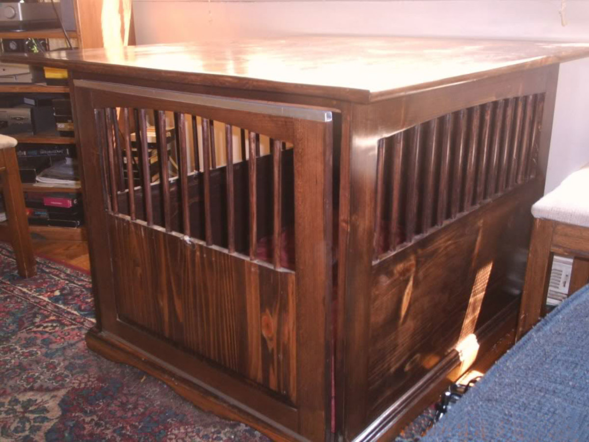A Wooden Dog Crate End Table Will Add Warmth to Any Room in Your Home