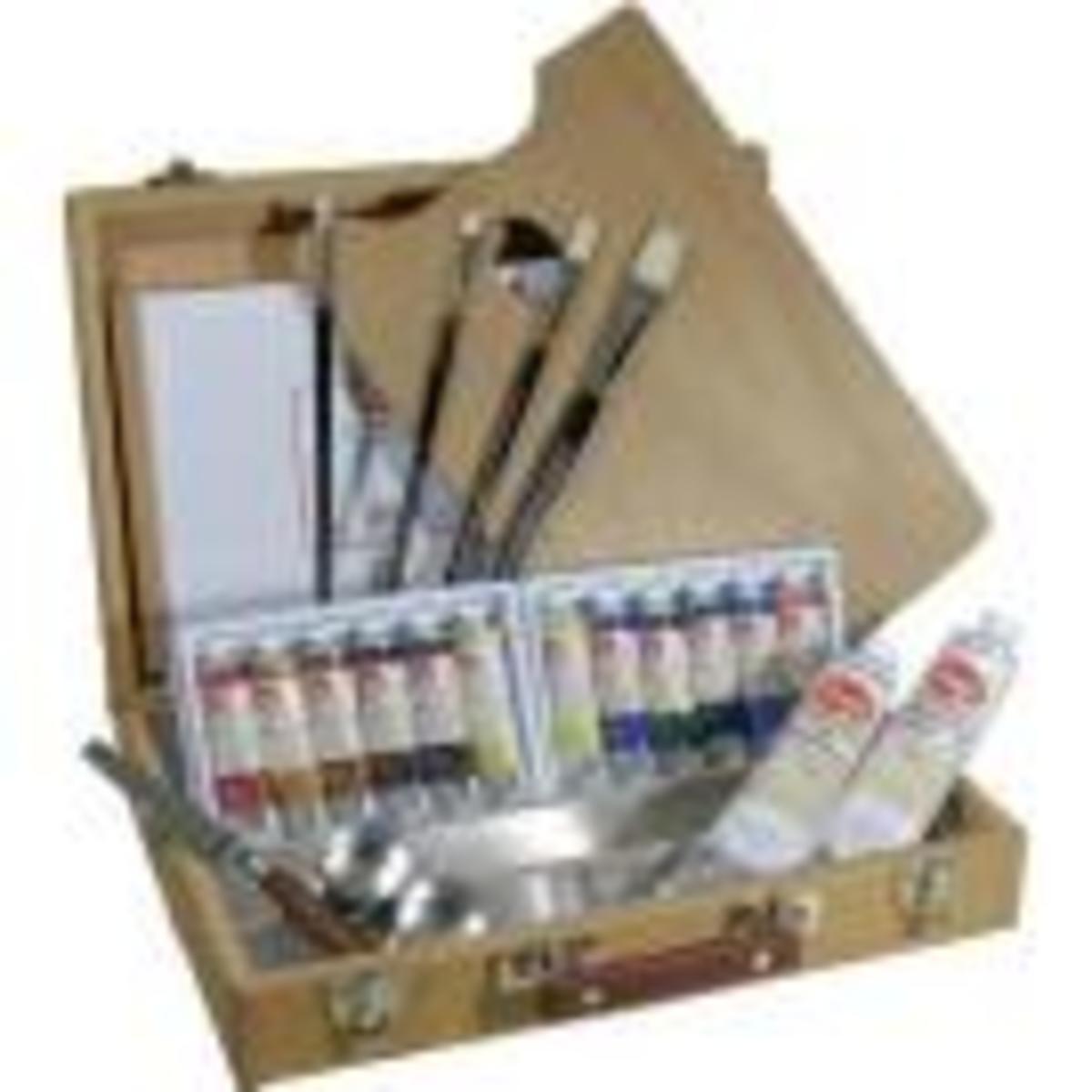 A Complete Oil Paint Set