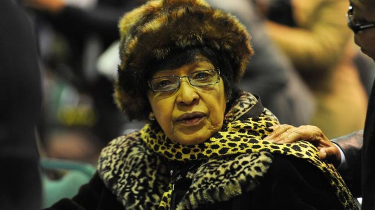 Winnie Mandela at the ANC's four day symposium