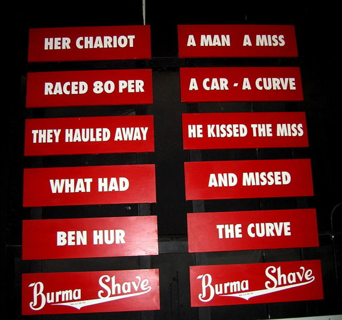 Burma Shave slogans