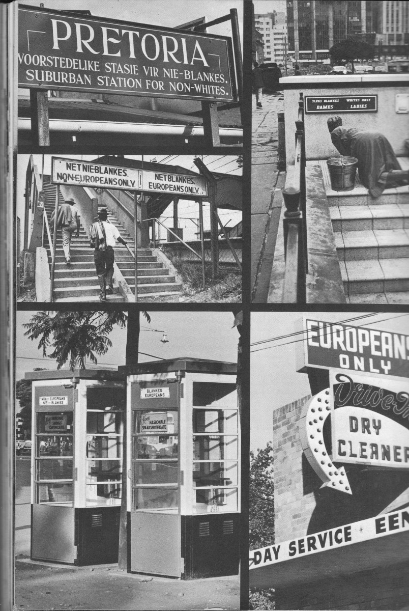 Segregation in the 1950s with signs all over the land controlling everything that separated Blacks from Whites.