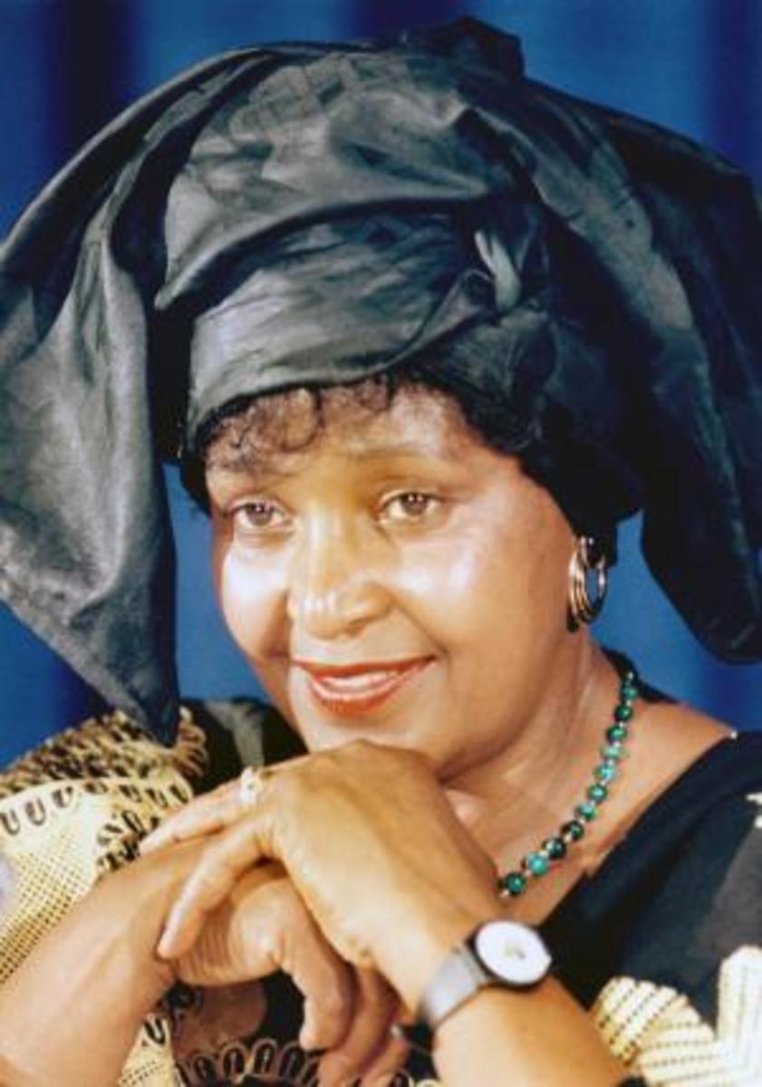 Winnie Mandela, Nelson Mandela's ex-wife, and was targeted by the Apartheid regime and General van den Bergh, BOSS' spy-master.