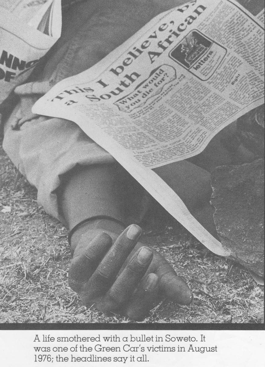 Another victim of Apartheid brutality in the June Revolution of 1976 in South Africa