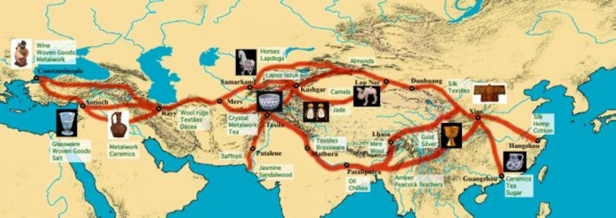 The Trade Routes from East to West and Back Again