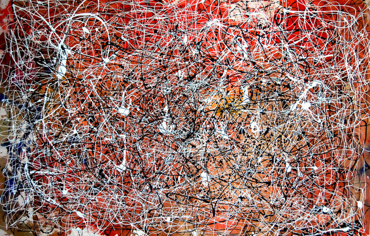 Jackson Pollock Lavender Mist