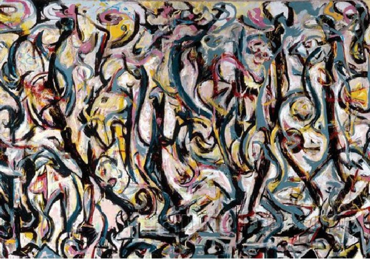"""Mural"" (1943) Can you see Jackson Pollock's name in it?"