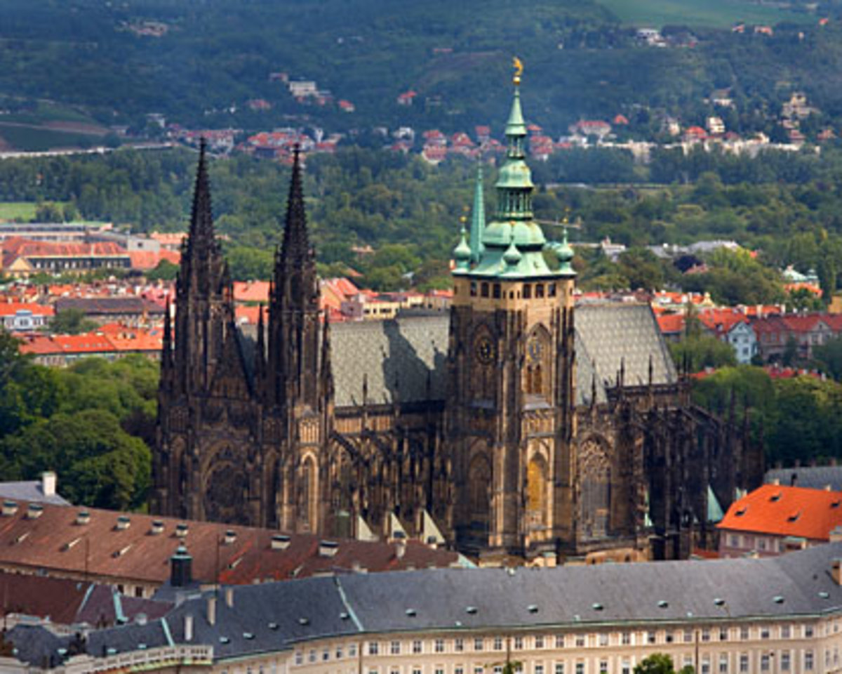 Prague Castle is one of the biggest castles in the world (according to Guinness Book of Records the biggest ancient castle at about 570 meters in length and an average of about 130 meters wide.Located in Roman.