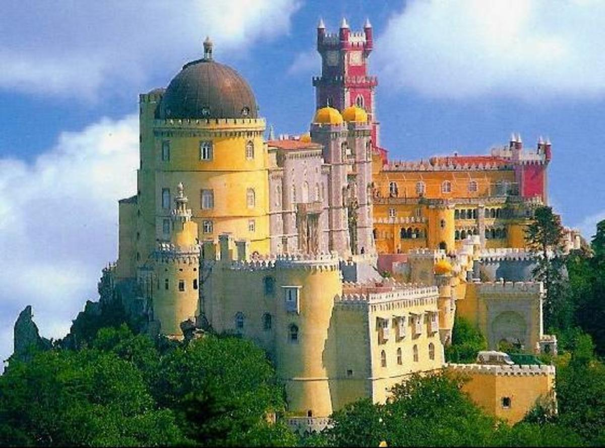 This castle is located in Sintra, Portugal.